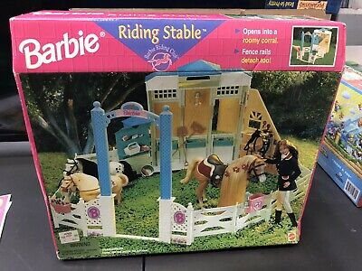1998 NRFB Barbie Riding Club Stable Horse Corral Fence 18428 BRAND NEW Play Set