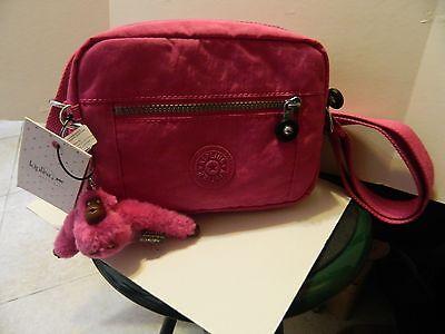 "NWT Kipling Bag ""Aveline"" Very Berry with Pink Monkey, Alyssa 8 X 6 NEW!"