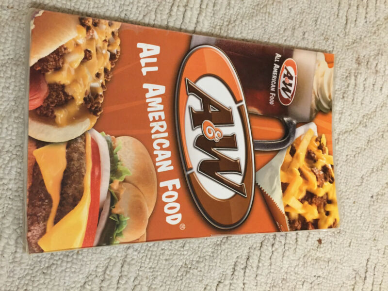 2012 A&W Root Beer Drive in laminated diner style menu used worn almost sold out