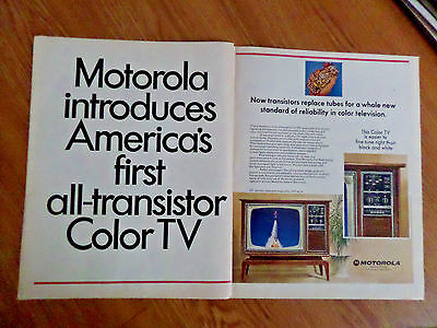 1967 Motorola TV Television Ad  Now Transistors Replace Tubes