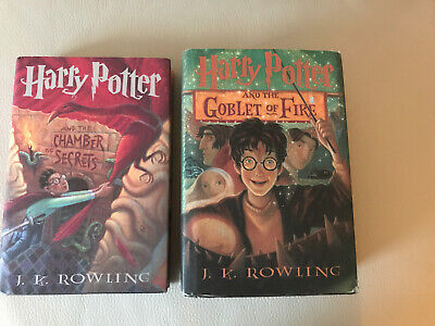 harry potter 2 & 4 hardcover set Of 2 books Good Condition Scholastic Inc