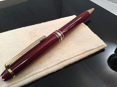 Montblanc Meisterstuck Classique Ballpoint Pen Bordeaux Burgundy w/ Gold 164R