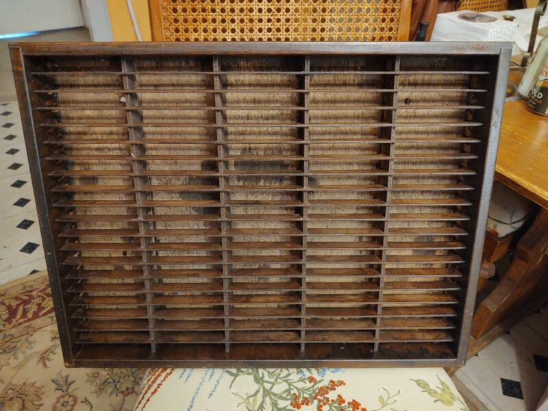 Napa Valley 100 Slot Cassette Tape Wooden Storage Wall Mount Rack Holder Case