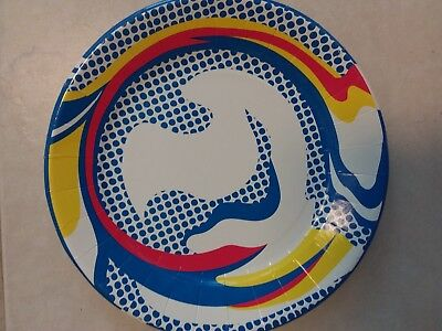 "Roy Lichtenstein Paper Plate Barneys New York 10 1/2"" Art Production Fund"