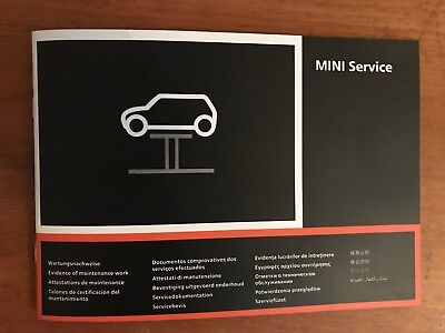 BMW MINI SERVICE BOOK NEW MULTI LANGUAGE NOT DUPLICATE ALL MODELS OEM