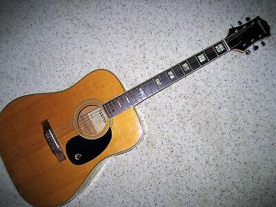 Epiphone FT150 BL Blond Acoustic Guitar Vintage Japan Good Condition w Soft Bag