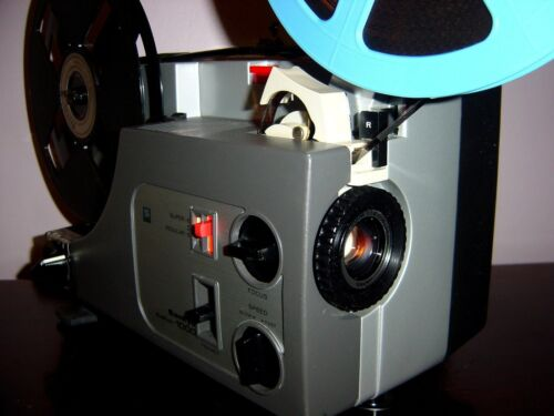 Sankyo Dualux 1000 Standard & Super 8 ADJUST SPEED PROJECTOR  ~ SERVICED~