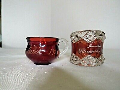 Silverwood Michigan Souvenir Ruby & Bonus Ruby Glass