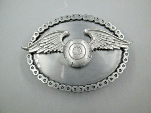 vintage von dutch flying eyeball biker  belt buckle