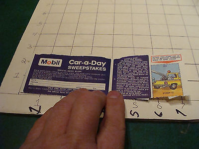 vintage paper item: 1968 MOBIL car a day sweepstakes paper
