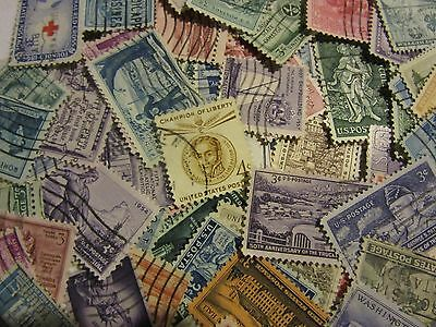Vintage US postage stamp lots  ALL DIFFERENT USED 3  AND 4 CENTS FREE SHIPPING