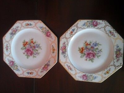 Rosenthal Continental THE DRESDEN Octagonal Luncheon Plate -set of 2