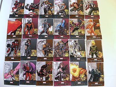 2012 Marvel Beginnings 3 III 180 Card Set from Upper Deck