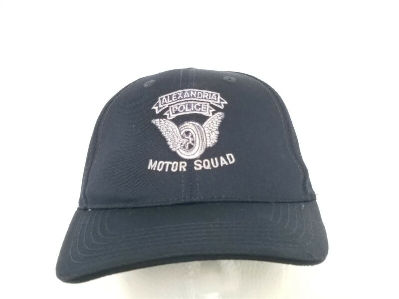 Alexandria Virginia Police Motor Squad Blue Ball Cap Hat Embroidered Adjustable