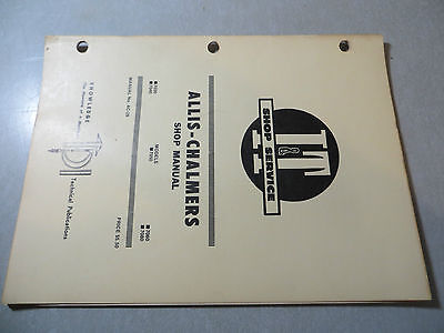 Allis Chalmers 7030 7040 7050 7060 7080 Tractor Shop Manual