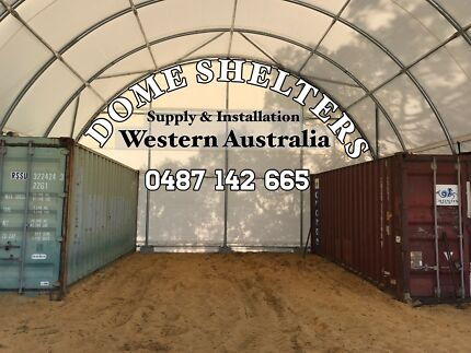 Dome Shelters, Site Set-ups and Site Fabrication