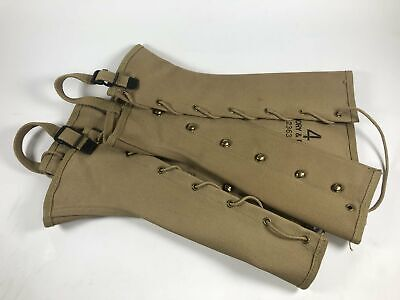 Spats, Gaiters, Puttees – Vintage Shoes Covers Vintage Gregory & Read CO. 1943 WWII WW2 Military Canvas Boot Spats Gaiters $32.99 AT vintagedancer.com