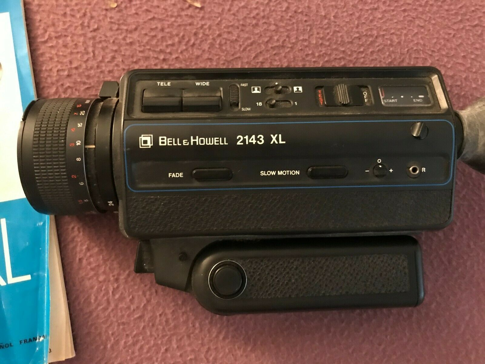Bell Howell 2143 XL Movie Camera With 8.5-24mm Zoom Lens Includes Users Manual - $5.00