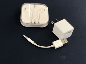 APPLE——EARBUDS——usb CHARGER cable—-WALL CHARGER—usb