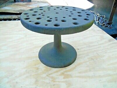 Antique Lathe Collet Holder Cast Iron Base American Watch And Tool Co.