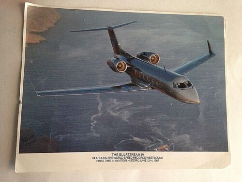 """1987 Gulfstream IV Business Jet Vintage Aircraft Airplane Photo Picture 8"""" X 11"""""""
