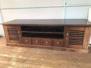 Wooden TV  Unit Wattle Grove Liverpool Area Preview