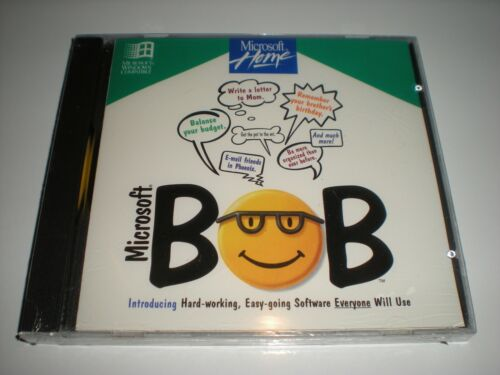 Microsoft Bob for Windows 3.1 & 95.  Factory sealed CD in jewel case. Very rare.