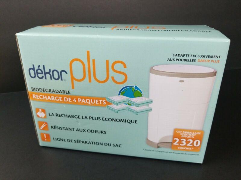 Dekor Plus Diaper Pail 4 Count Biodegradable Refills Most Economical Refill