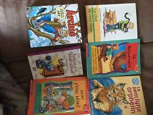 Lot of 6 french books