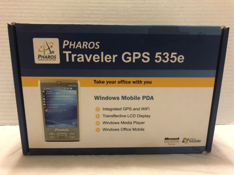 Pharos Traveler GPS 535e Windows Mobile PDA. Never Used. Fast Shipping.