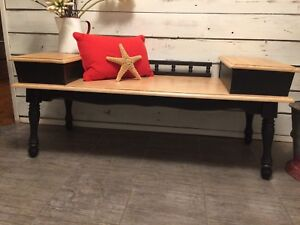 Vintage dough box table turned bench