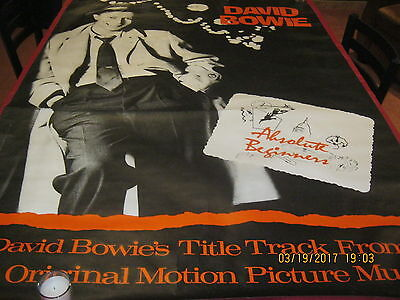 "David Bowie HUGE ""Absolute Beginners"" MOVIE POSTER 1986"