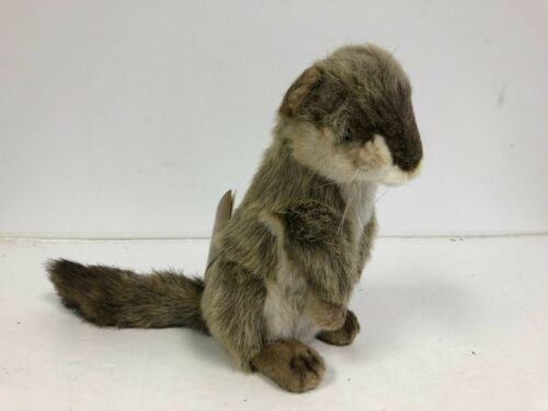 """NEW Hansa Portraits of Nature 10"""" Red Squirrel Plush (with Tags) Lifelike Ground"""
