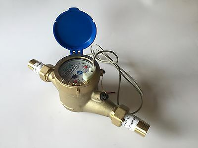 Dae Mj-75 Lead Free Potable Water Meter 34 Npt Couplings Pulse Outputgallon