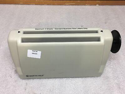 Martin Yale 6200 3 Sheet Paper Folding Machine Adjustable Letter Tri Fold