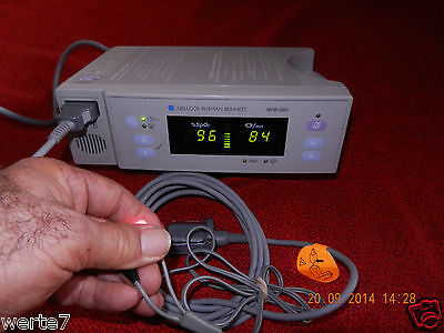 Usado, NELLCOR PuritanBennett NPB290 SpO2 Pulsómetro+Sensor de Dedo, Probado 100% OK segunda mano  Embacar hacia Spain