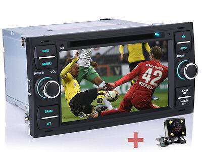Für FORD FOCUS FIESTA TRANSIT Autoradio GPS DVD CD Navi USB RDS Rückfahrkamera