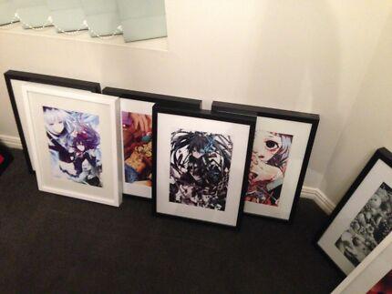 Framed anime prints
