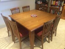 Wooden square dining table and chairs Concord Canada Bay Area Preview