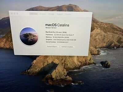 "Apple MacBook Pro A1990 15.4"" ,512 GB, i7 2.2GHz, 16GB RAM Space Gray - Touchbar"