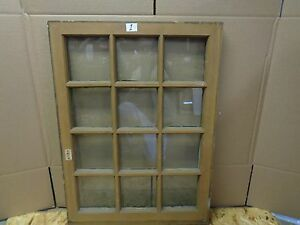 1 rare antique wood sash mutton bar window 12 panes
