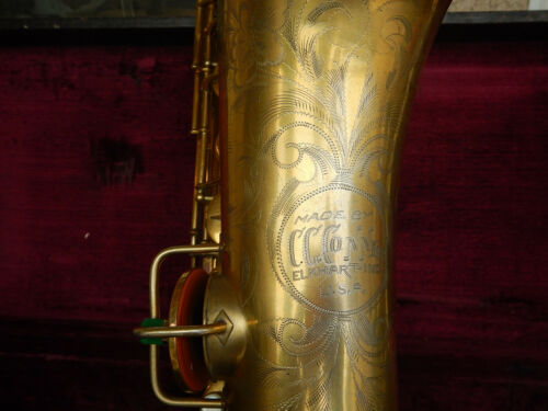 C.G. Conn Gold Plate Tenor Saxophone Rolled Tone Holes Free Shipping ! Mak Offer