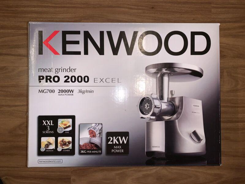 NEW Kenwood Meat Grinder Pro 2000 Excel MG700