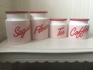 Collectible vintage 4 Hornsea canister set