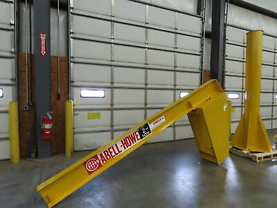 Abell-howe 2 Ton 4000 Lb Free Standing Jib Crane 11 Span X 10 H 360 Swivel