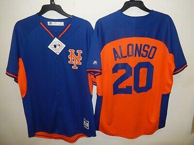9601 MAJESTIC New York Mets PETE ALONSO Baseball se JERSEY New Royal/Orange - New York Mets Baseball Jersey