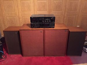 Denon stereo system with vintage Worfdale Speakers