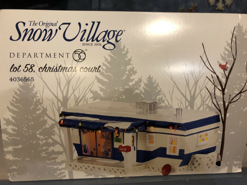 Dept. 56 Snow Village Lot 58. New!