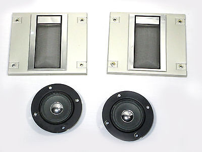 Sansui Tweeter Driver Set & Grilles For S-530 Speakers Vintage Tested Working