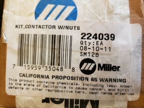 MILLER 224039 KIT, CONTACTOR W/NUTS